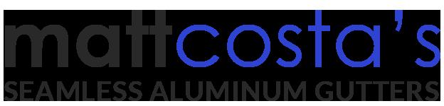 Matt Costa's Seamless Aluminum Gutters Logo
